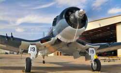 Cavanaugh Flight Museum Corsair. Photo By: Scott Slocum, Aero Marketing